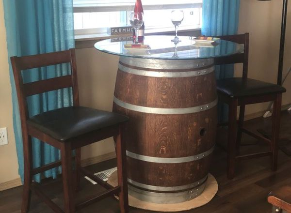 wine barrell furniture. Plain Barrell WINE BARREL TABLE AND 2 MATCHING BAR STOOLS IN EXCELLENT CONDITION For  Sale In Yelm WA  OfferUp To Wine Barrell Furniture