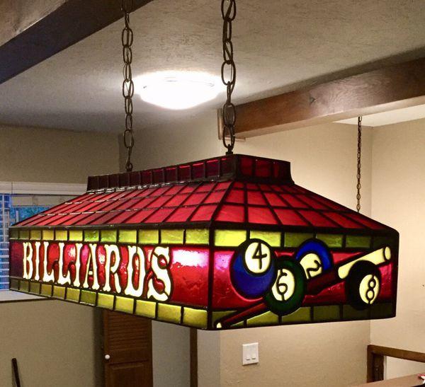 Billiard Pool Table Light That Hangs