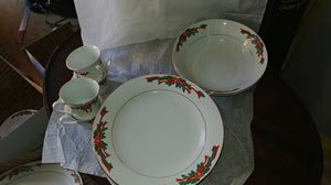Poinsetta ribbon china for Sale in Madison Heights, VA