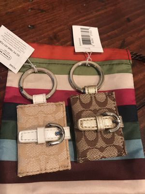 Coach keychains (2) beige and brown for Sale in MIDDLE CITY EAST, PA