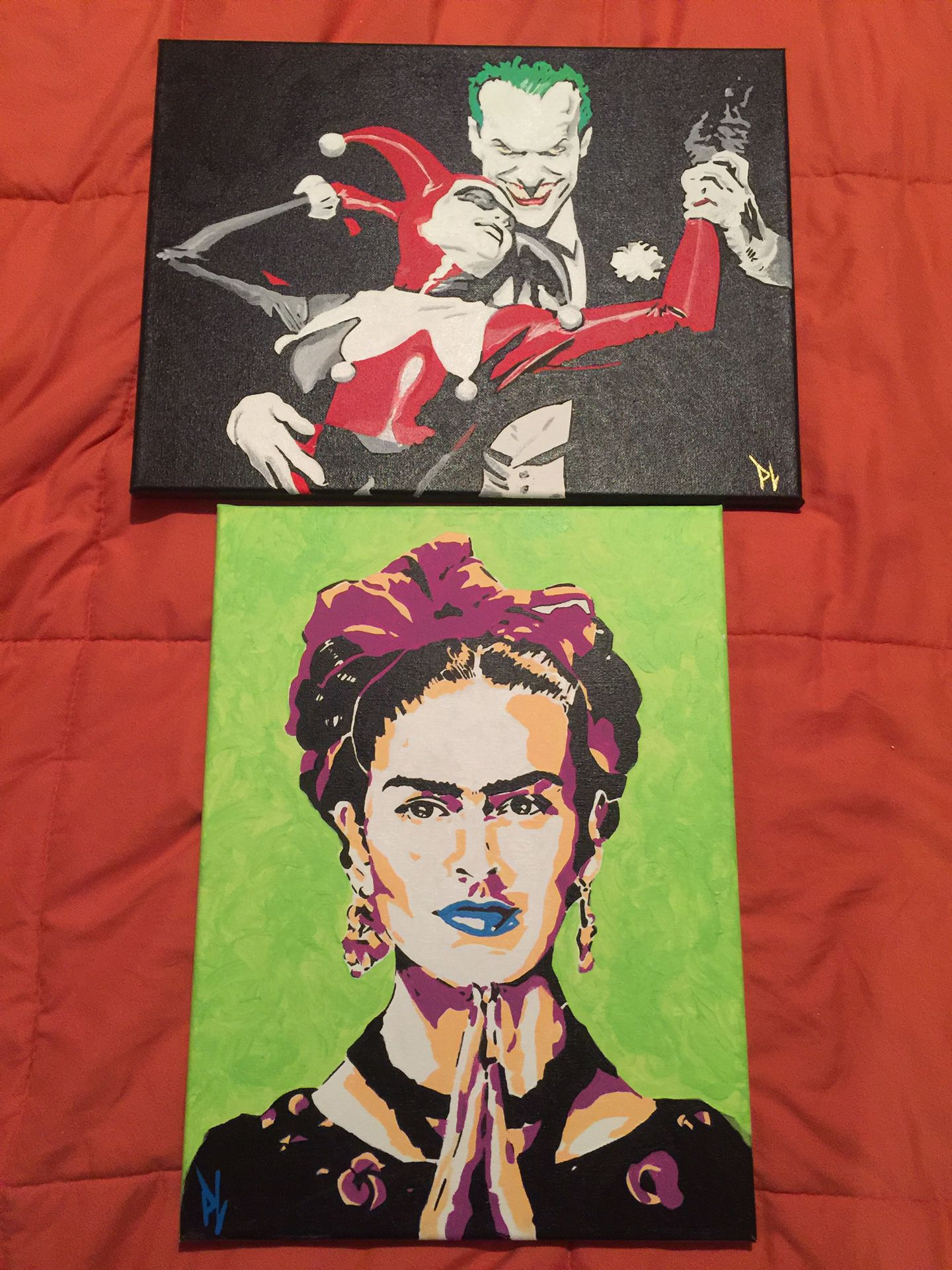 Paintings with acrylic paint