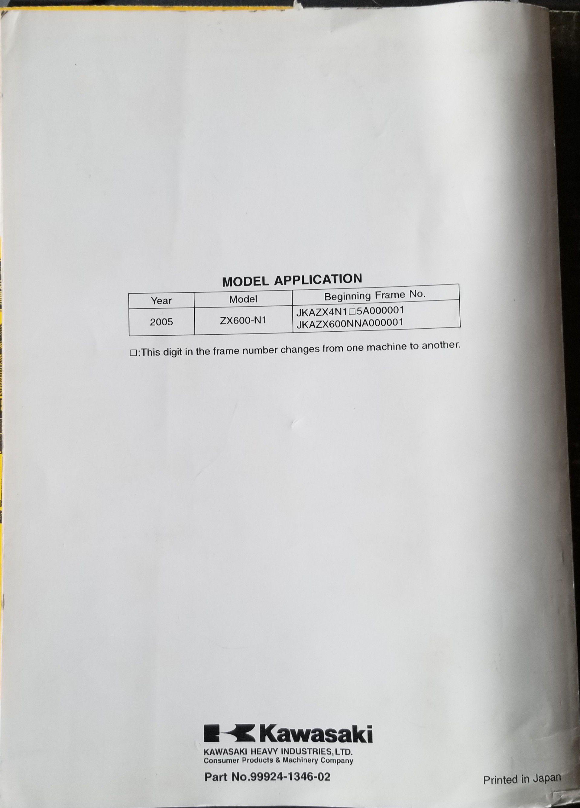 Kawasaki Ninja ZX-6RR service manual
