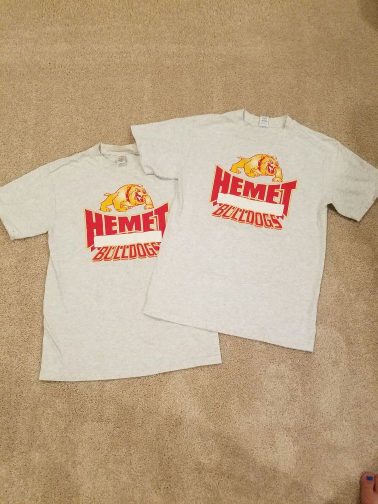 Hemet High PE Gym Shirts Size Medium