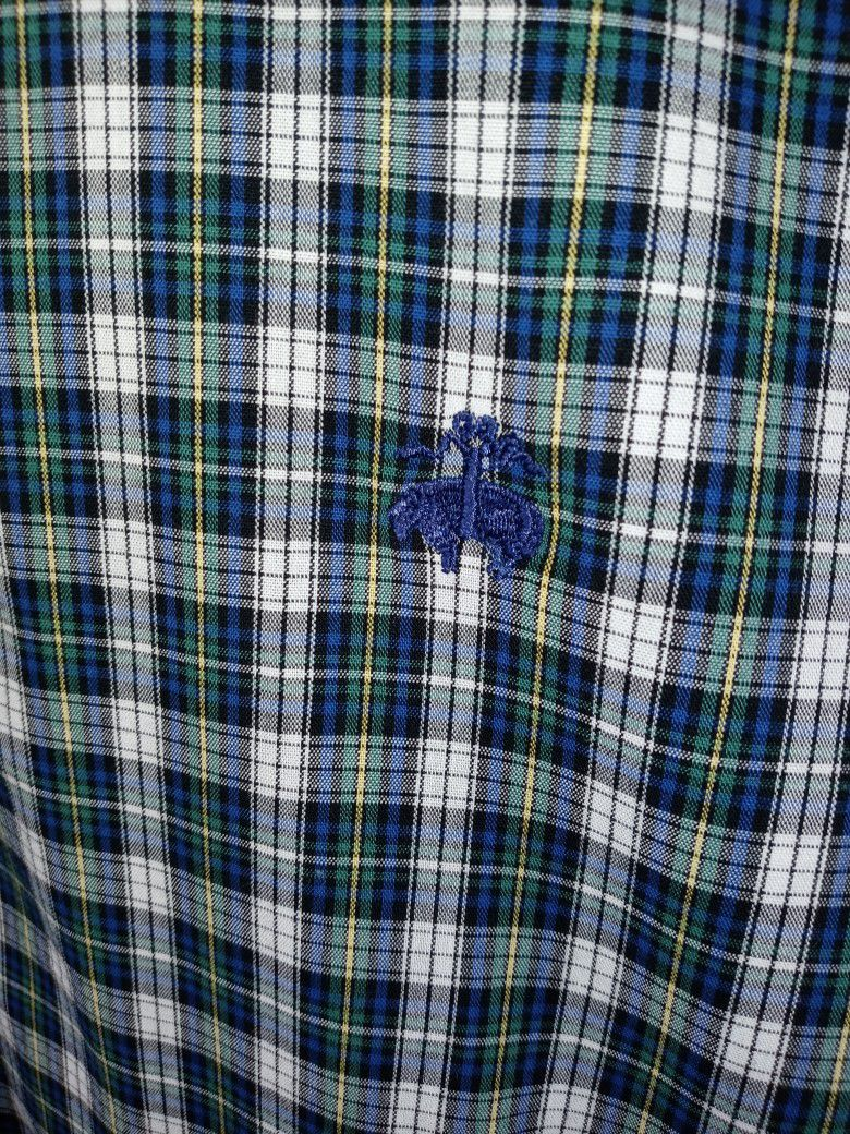 Brooks Brothers Mens Size 2XL Hunter Green Plaid Shirt. Excellent like new condition awesome color combination and design. Quality construction and de