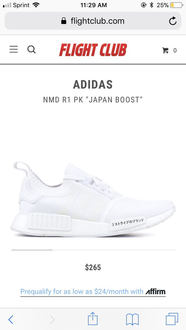 """new product 49721 7cb6d Adidas nmd R1 PK """"Japan boost"""" triple white"""