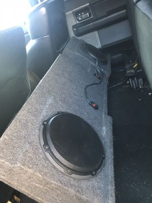 "Photo Jl 3 10"" speakers with box"