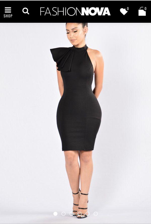3ee8cb3d22 Ruffle black fashion nova dress never worn for Sale in Muskegon Heights