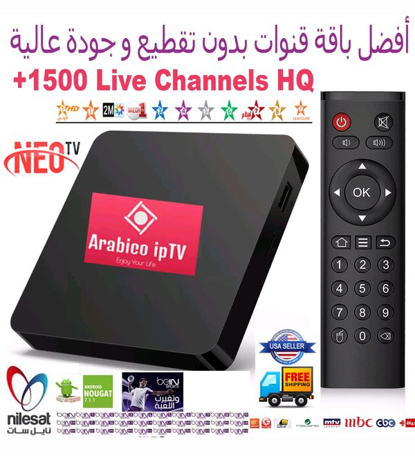Arabic IPTV best Box +1500 Live HD channels TV 2018 Android 7 1 H 265 Top  Quality for Sale in Harrisburg, PA - OfferUp