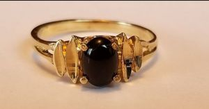 Photo ❤Stunning Vintage Estate 10K yellow gold black onyx ring size 7❤