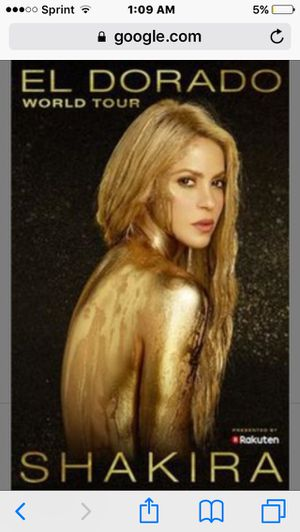 Two Shakira Concert Tickets for Sale in Chantilly, VA