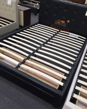 Brand New Full Size Leather Platform Bed w/Storage Drawer for Sale in Silver Spring, MD
