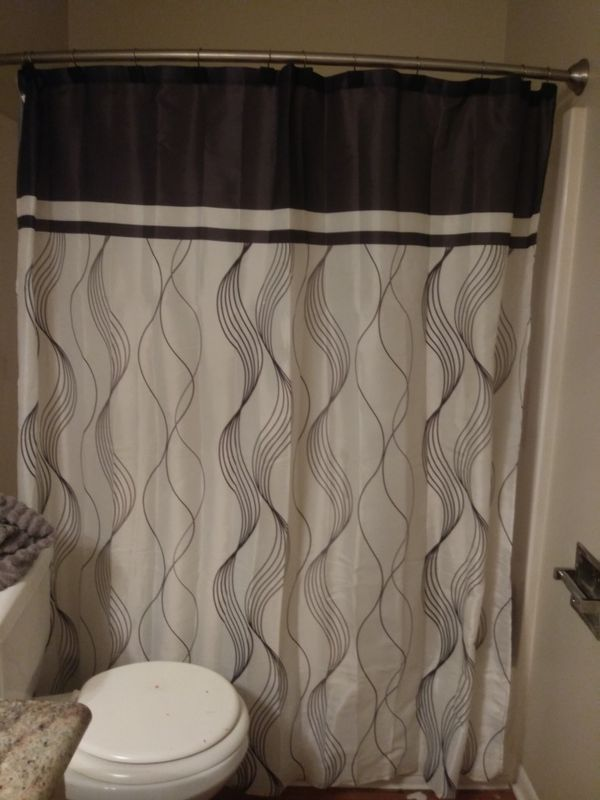 Mainstays Shower Curtain With Hooks