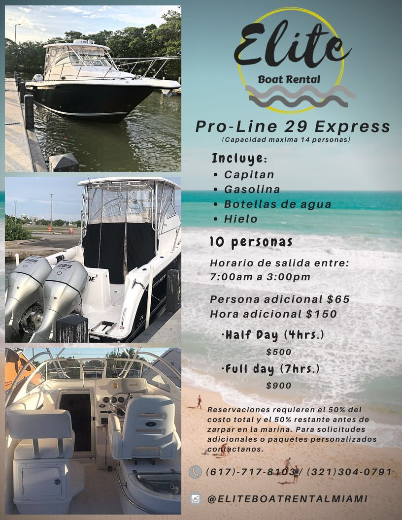 Boat Charter Miami-Halouver-Key Biscayne