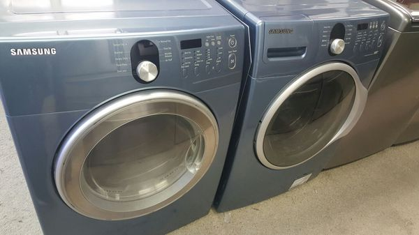samsung light blue front load washer dryer set for sale in san antonio tx offerup. Black Bedroom Furniture Sets. Home Design Ideas