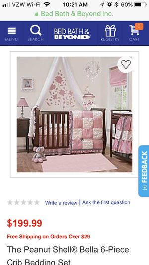 Bella 6 Piece Crib Bedding Set For, The Peanut Shell Bella 6 Piece Crib Bedding Set