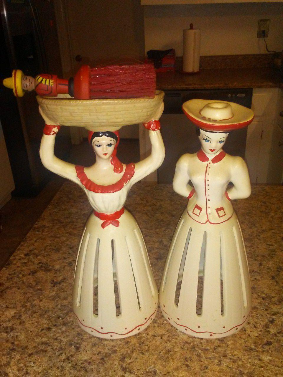 Vintage ceramic napkin holders