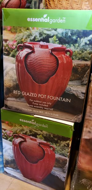 Red Glaze Pot Fountains for Sale in Bowie, MD