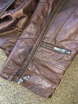 Leather jacket brown Thumbnail