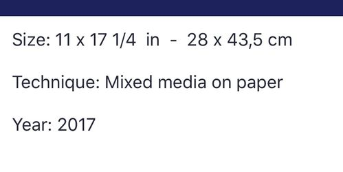 Mixed media on paper Thumbnail