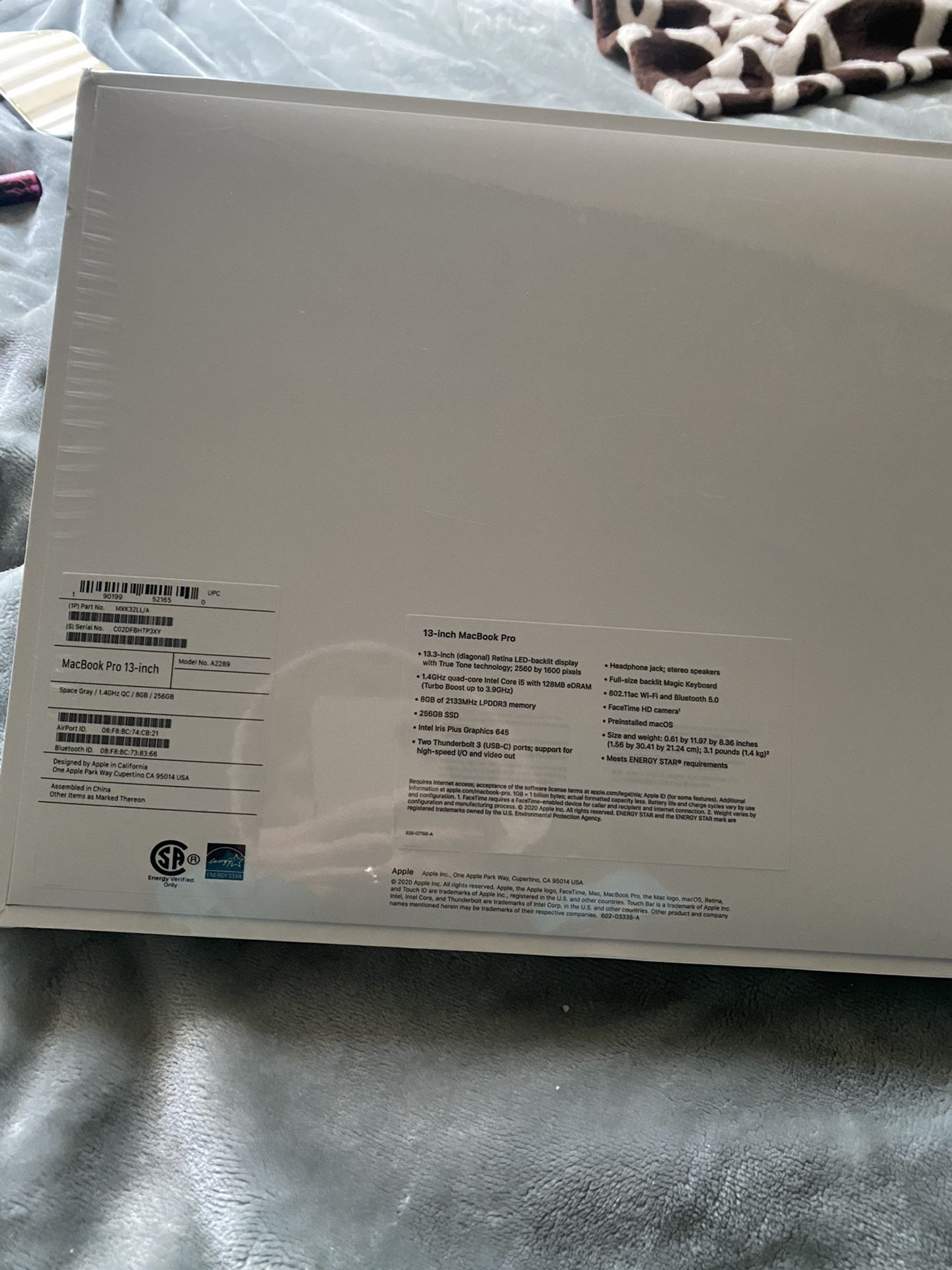 MacBook Pro Space Grey 256GB 13 Inch