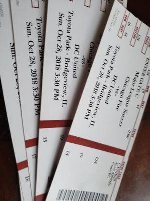 Tickets.para.el.chicago.vs.Dc. for Sale in Chicago, IL
