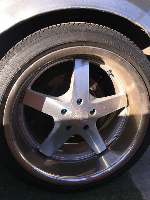 XXR 968 Rim set with tires (used) (Auto Parts) in Phoenix, AZ - OfferUp