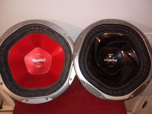 Two Sony bass speakers 1200 & 1300 watt for Sale in Nashville, TN