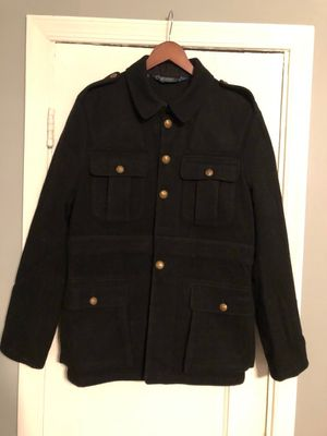 Men's Polo wool coat in good condition size Large missing one button for Sale in Washington, DC