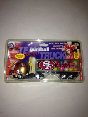 San Francisco 49ers Team Truck Gumball Bank Made In Year 1999 New Truck Around 9 Inches Long for Sale in Reedley, CA