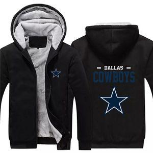 NFL American football winter thicken plus velvet zipper coat hooded sweatshirt casual jacket Dallas Cowboys for Sale in Westlake, MD
