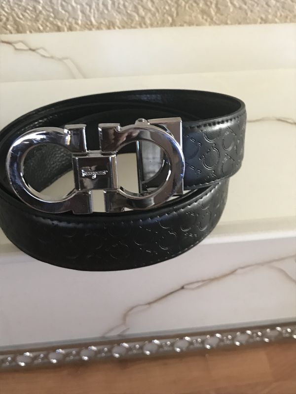 c84315c5e3 ... new style silvestor ferragamo leather belt with silver buckle size 38  40 for sale in las ...