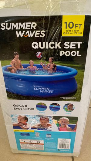 Photo Piscina SUMMER WAVES QUICK SET POOL 10 FT