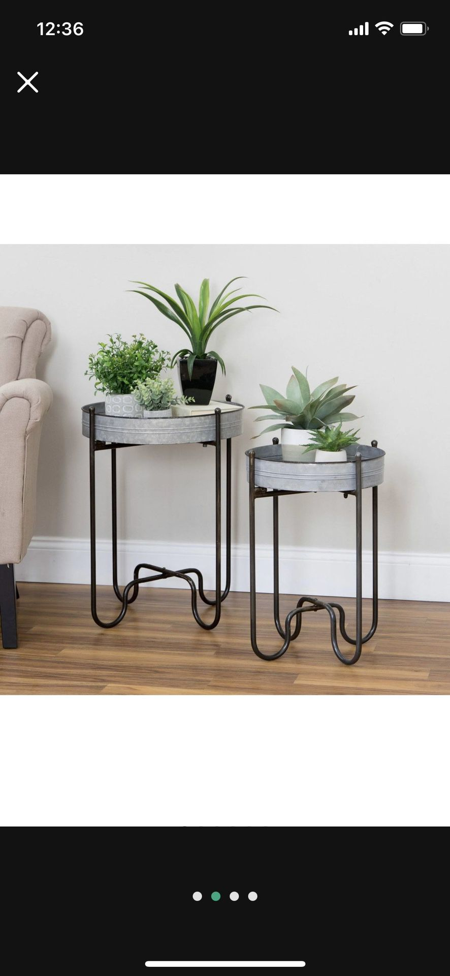 Metal Tables (Set of 2)