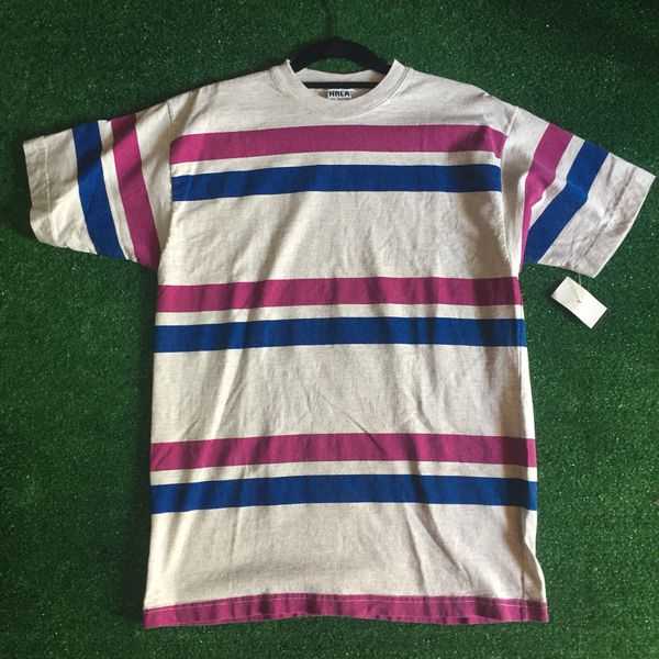 41008cd777 VTG HRLA Made in USA Striped T Shirt Sz S M for Sale in Carson