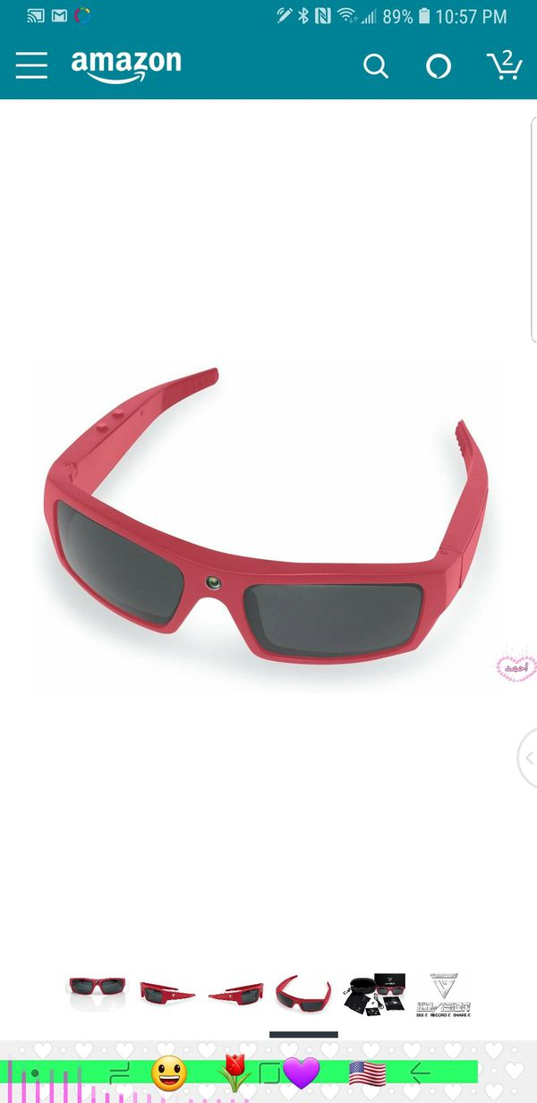 10135a2e60 sovision SOL 1080p HD Camera Glasses Video Recording Sport Sunglasses with Bluetooth  Speakers and 15mp Camera - Red