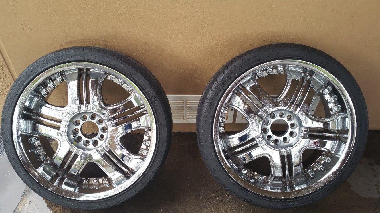 20inch chrome rims and tires