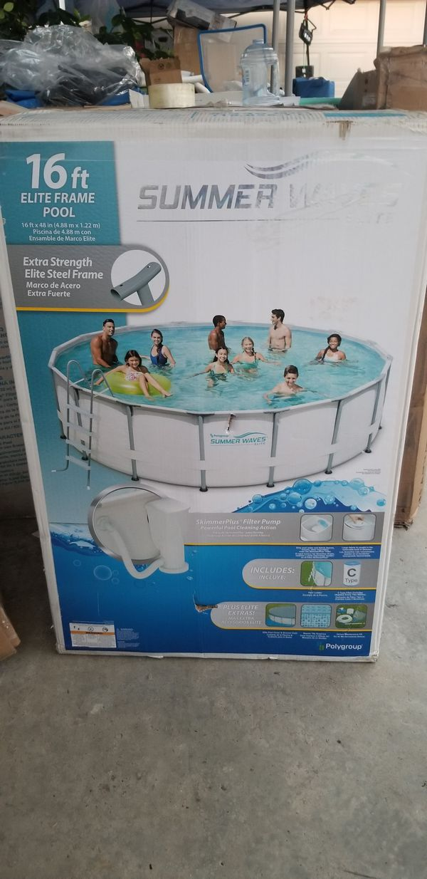 Pool summer WAVES 16ftx 48 (Home & Garden) in Bell, CA - OfferUp