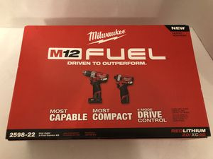 Milwaukee M12 FUEL Hammer Drill & Impact Driver Combo Kit for Sale in Orlando, FL