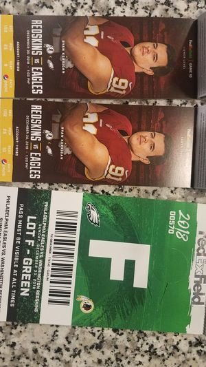 Redskins vs Eagles December 30th for Sale in Ashburn, VA