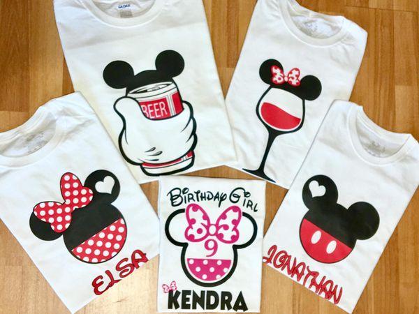 Mickey N Minnie Mouse Birthday T Shirt Fiesta