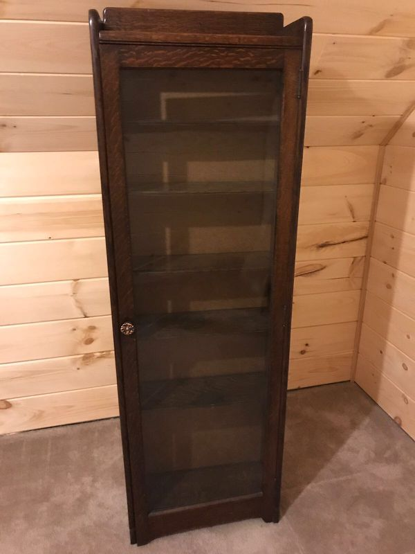 Tall Glass Door Display Cabinet Furniture In Charlotte Nc Offerup