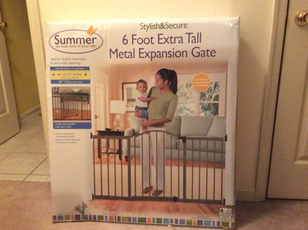 Summer 6 Foot Metal Extra Tall Expansion Gate New In Box For Sale