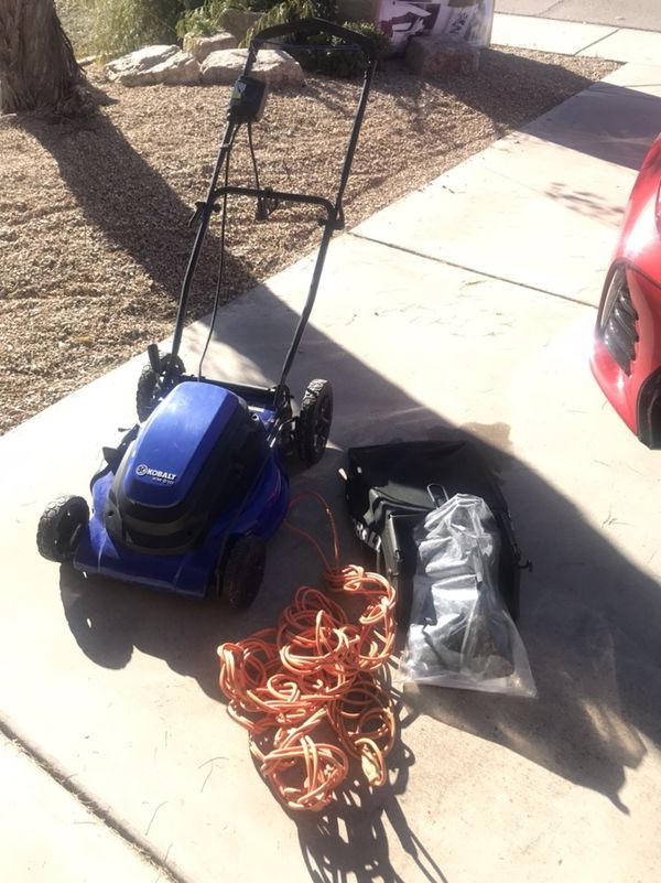 Kobalt 13-Amp 21-in Deck Width Corded Electric Push Lawn Mower with  Mulching Capability for Sale in Tempe, AZ - OfferUp