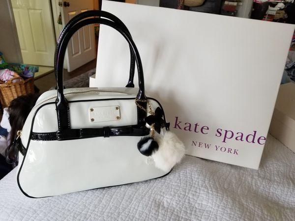 7714cbf81f Kate Spade Bowarama Simone White Patent Leather Bow Beau Satchel