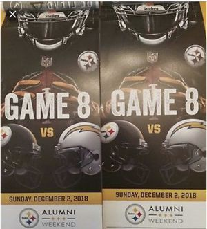 Steelers vs Chargers Dec 2nd for Sale in Bethel Park, PA