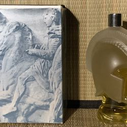 """Vintage Avon Tribute To Men Cologne in Collectible 6"""" Spartan Knight Head & Box 6 fl. ozs. New Full Thumbnail"""