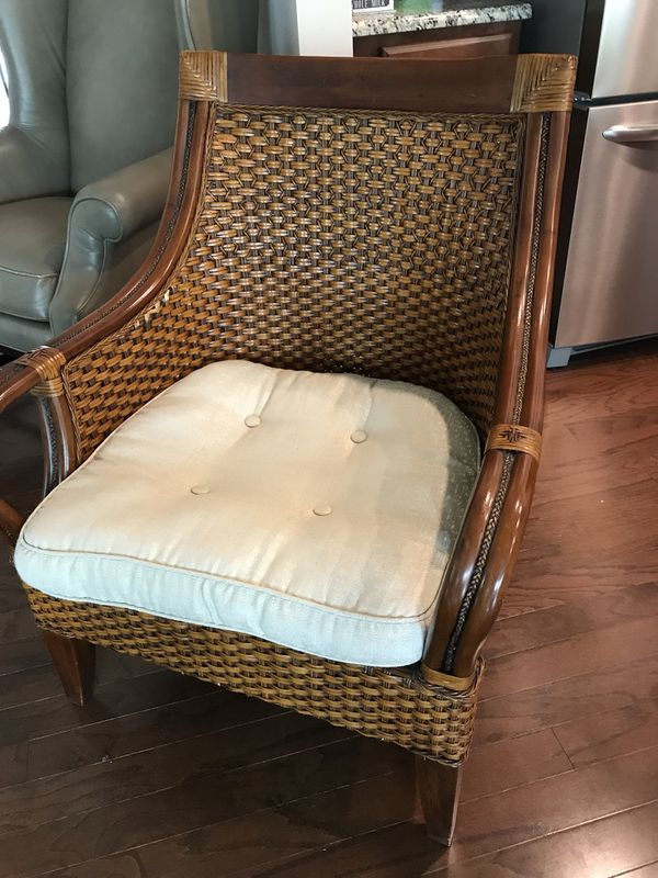 Wicker Accent Chairs.Wood Wicker Accent Chair For Sale In Fort Mill Sc Offerup