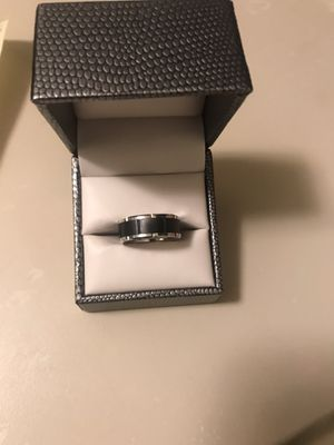 Wedding Band - black and white tungsten size 9.5 for Sale in Chicago, IL