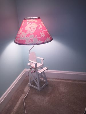 Lifeguard chair lamps /w pink shade for Sale in Oakton, VA