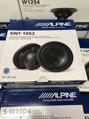 Photo Alpine swt-10s2 on sale today, get the best deals on these shallow subs